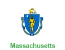 Massachusetts flag representing incentives in MA for pellet boilers
